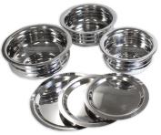 Kitchen Diva 6 Piece Stainless Steel Bowl & Lid Set