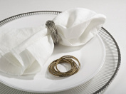 Bangle Design Metal Napkin Rings, Set of 4