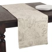 Escribir Printed Contemporary Cotton-linen Table Runner
