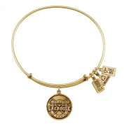 Wind and Fire Lacrosse Gold Finish Charm Bangle