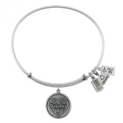 Wind and Fire Daughter Silver Finish Charm Bangle