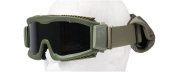 Lancer Tactical Airsoft Safety Goggles, Vented, Green Frame, Smoked Grey Lens