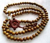 Tibet Buddhist 108 Sandalwood Beads Prayer Mala Necklace