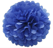 Generic Pack of 10 Royal blue Wedding Decorative Props Tissue Paper Pompoms Pom Poms Balls Wedding Party Home Decoration 10""