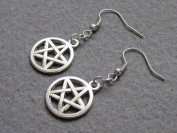 Amulet Earrings,pentagram Earrings,cute Five Pointed Star Earrings,protection Earrings