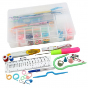 Topix Knitting Accessory Kit Supply Set Basic Tools + Case Lots Pcs, STYLE-B