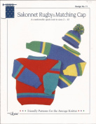Sakonnet Rugby & Matching Cap Design by Louise Knitting Pattern #11 Comfy quick knit sweater & hat set for Children in sizes 2 - 12
