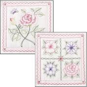 Bucilla Stamped Embroidery Quilt Blocks 38cm x 38cm 6/Pkg
