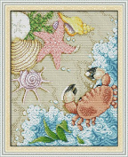 Happy Forever Cross Stitch Cartoon,the beach 3