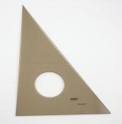QUINT Premium Professional Smoked Acrylic Inking Edge Triangle 80cm /150cm - 10cm