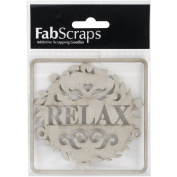Die-Cut Grey Chipboard Word-Relax, 8.9cm x 8.9cm
