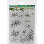 Penny Black Decorative Rubber Stamps, Holly Scroll