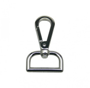 Generic Metal Silvery Lobster Clasps 2.5cm Inside Diameter D Swivel Trigger Clips Hooks for Purse Bag Straps Pack of 10