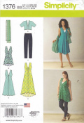 Simplicity Creative Patterns 1376 Misses' and Plus Size Jacket, Top, Dress and Leggings, BB