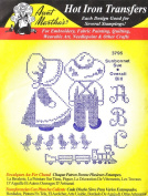 Sunbonnet Sue & Overall Bill Aunt Martha's Hot Iron Cross Stitch Embroidery Transfer
