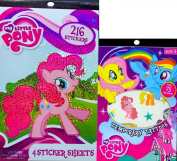 My Little Pony Sticker Book and My Little Pony Temporary Tattoos Arts and Crafts Reward Gift Set