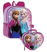 Disney Frozen Girl's Backpack with Detachable Lunchbox Set