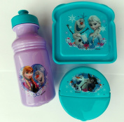 Exclusive Disney's Frozen Featuring Anna, Elsa and Olaf 3-Piece Lunch Box Set