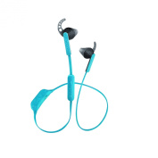 Urbanista Boston Wireless Bluetooth Sport Earphones with Mic and Volume Control, Coral Island/Turquoise