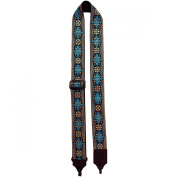 LM Products 5.1cm Retro Style Cotton Banjo Strap Turquoise
