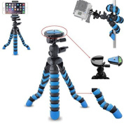 AVAWO Universal 30cm Inch Flexible Tripod Wrapable Leg Quick Release Plate for GoPro HERO 1 2 3 3+ 4, iPhone 6 Plus 5S for for for for for for for for for for Samsung S4 S5 S6 Smartphone + GoPro Tripod Mount + Cell Phone Tripod Adapter