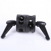 Fotga Dual Head Grip Swivel Head Clamp Holder for Reflector Studio Boom Arm photograph