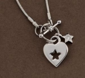 Lovely Heart and Star Necklace