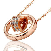18K Rose Gold Plated Ring & Heart Necklace