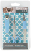 Urban Spa Get A Grip Trio Manicure and Pedicure Essentials Kit for Purse, Travel, Desk or Home