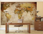Prepasted Wall Mural Foto Wall Decor, World Map, 210cm - 140cm
