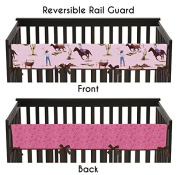 Western Cowgirl Long Front Rail Guard Baby Girl Teething Cover Protector Crib Wrap