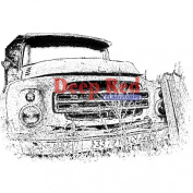 Deep Red Cling Stamp 7.6cm x 5.1cm -Rusty Truck