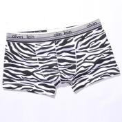 Men's Zebra Print Cotton Trunk