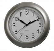ITC (32000-NI-DB) 20cm Brushed Nickel Round Clock