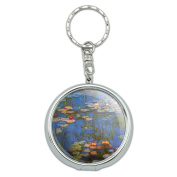 Portable Travel Size Pocket Purse Ashtray Keychain Art Paintings - Water Lilies Claude Monet