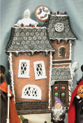 Byers's Choice Lighted Haunted Gingerbread House