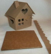 Putz Style Little Village Cardboard House-Heart Cottage