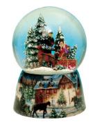"MusicBox Kingdom 48082 Carriage Snow Globe Music Box, Turns to The Melody ""Winter Wonderland"""