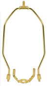 28cm Heavy Duty Harp Fitter For Lamp Shades Polished Brass