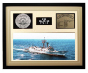 Navy Emporium USS Klakring FFG 42 Framed Navy Ship Display Brown