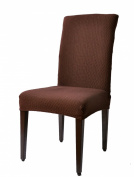 Subrtex Chair Covers Jacquard Spandex Fabric Dining Room Chair Slipcovers