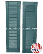 Louvred Shed Shutter or Playhouse Shutter, Blue 23cm X 70cm , 1 Pair
