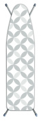 Laundry Solutions by Westex Deluxe Extra Thick Geo Tonal Circles Ironing Board Cover, Grey