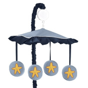 Starfish Sea Life Musical Baby Crib Mobile for Ocean Blue Collection