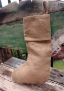 Burlap Jute Christmas Stockings, 41cm , 6-pack