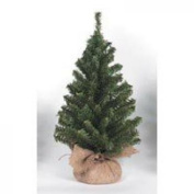 Canadian Tree with Burlap Base - 108 Tips - 38cm