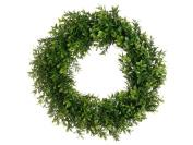 43cm Boxwood Wreath Two Tone Green