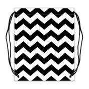 Chevron Zigzag Pattern Basketball Drawstring Bags Backpack, Sports Equipment Bag - 42cm (W) x 49cm (H), Twin-sided Print