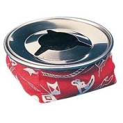 Amarine-made Stainless Windproof Bean Bag Ashtray, Blue or Red