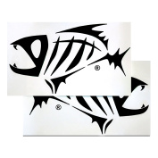 G.Loomis Skeleton Fish Boat Decal Set- 16 X 9